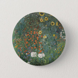Chapa Redonda De 5 Cm Gustavo Klimt - flores de los girasoles del jardín