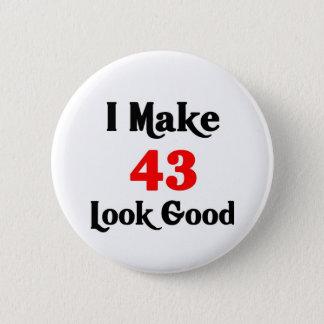 Chapa Redonda De 5 Cm Hago la mirada 43 buena