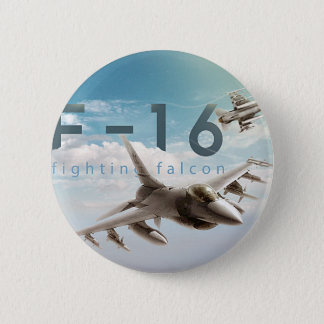 Chapa Redonda De 5 Cm Halcón que lucha F-16