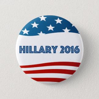 Chapa Redonda De 5 Cm Hillary 2016 con las barras y estrellas