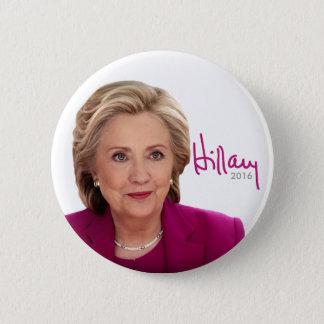 Chapa Redonda De 5 Cm Hillary Clinton 2016 para el presidente - firma