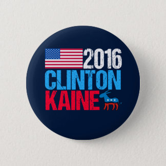 Chapa Redonda De 5 Cm Hillary Clinton 2016 Tim Kaine