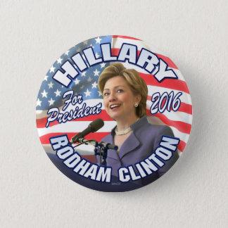 Chapa Redonda De 5 Cm Hillary Rodham Clinton 2016