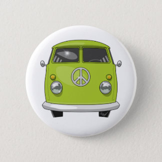 Chapa Redonda De 5 Cm Hippie 1960 Van