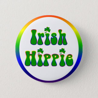 Chapa Redonda De 5 Cm Hippie irlandés redondo
