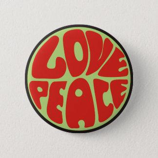 Chapa Redonda De 5 Cm hippie love peace dicho