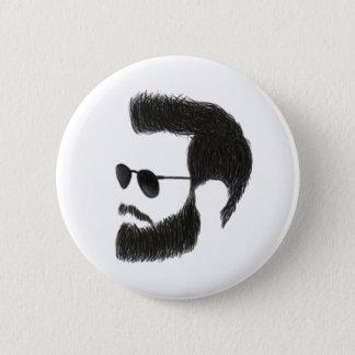 Chapa Redonda De 5 Cm Hombre de la barba