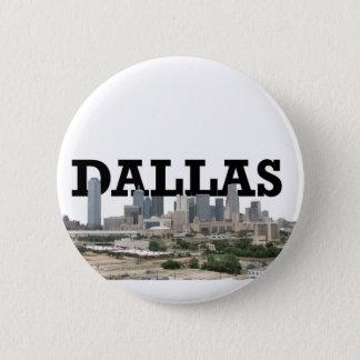 Chapa Redonda De 5 Cm Horizonte de Dallas con Dallas en el cielo