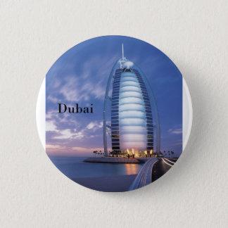 Chapa Redonda De 5 Cm Hotel árabe del Al de Dubai Burj (por St.K)