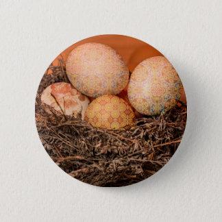 Chapa Redonda De 5 Cm Huevos de Pascua rústicos en jerarquía