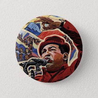 Chapa Redonda De 5 Cm Hugo Chavez - estilo de la revolución del dibujo