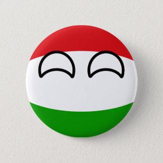 Chapa Redonda De 5 Cm Hungría Geeky que tiende divertida Countryball