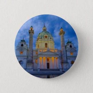 Chapa Redonda De 5 Cm Iglesia San Carlos, Viena