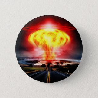 Chapa Redonda De 5 Cm Ilustracion del hongo atómico de la explosión