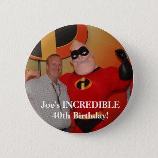Chapa Redonda De 5 Cm ¡image97, cumpleaños INCREÍBLE de Joe el 40.o!