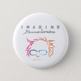 Chapa Redonda De 5 Cm Imagínese las chorreadoras de Bernie