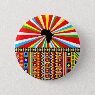 Chapa Redonda De 5 Cm Impresión africana de Kente del modelo rojo del
