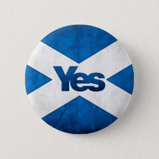 Chapa Redonda De 5 Cm Independencia escocesa - de Saltire insignia sí