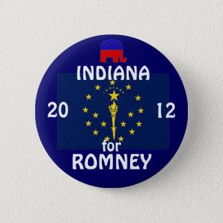 Chapa Redonda De 5 Cm Indiana para Romney 2012