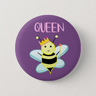 Chapa Redonda De 5 Cm ¡Insignia de la abeja reina!