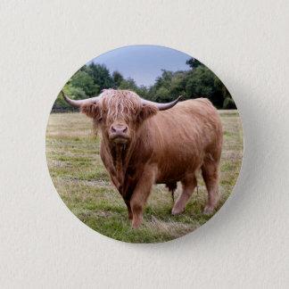 Chapa Redonda De 5 Cm Insignia de la vaca de la montaña