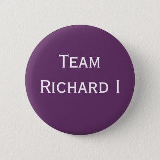 Chapa Redonda De 5 Cm Insignia de Richard I del equipo