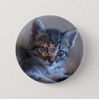 Chapa Redonda De 5 Cm Insignia del amor del gato
