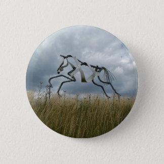 Chapa Redonda De 5 Cm Insignia del caballo
