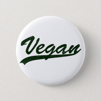Chapa Redonda De 5 Cm Insignia del logotipo del vegano