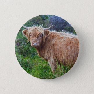 Chapa Redonda De 5 Cm Insignia joven de la vaca de la montaña