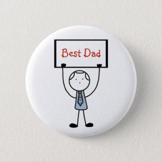 "Chapa Redonda De 5 Cm Insignia/Pin/botón del ""mejor papá"""