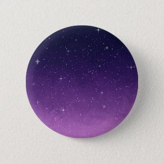 Chapa Redonda De 5 Cm Insignia rosada y púrpura de la galaxia