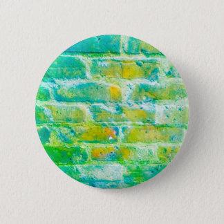 Chapa Redonda De 5 Cm Insignia verde de los ladrillos