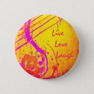 Chapa Redonda De 5 Cm Inspirado espiritual - vivo, ame, ría