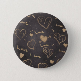 Chapa Redonda De 5 Cm Instinto del Pin/de la serie del amor