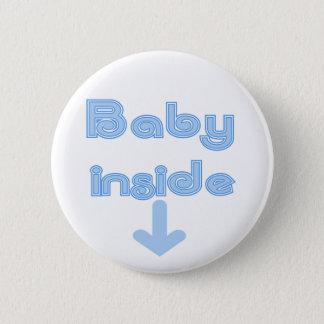Chapa Redonda De 5 Cm Interior del bebé azul - modificado para requisito
