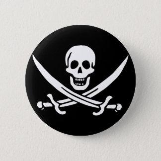 Chapa Redonda De 5 Cm Jack Rackham; Bandera alegre de Rogelio; Pirata