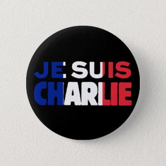 Chapa Redonda De 5 Cm Je Suis Charlie - soy Charlie tricolor de Francia