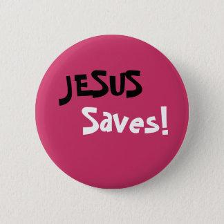 Chapa Redonda De 5 Cm ¡Jesús ahorra!