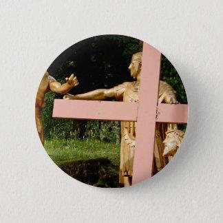 Chapa Redonda De 5 Cm Jesús con la cruz