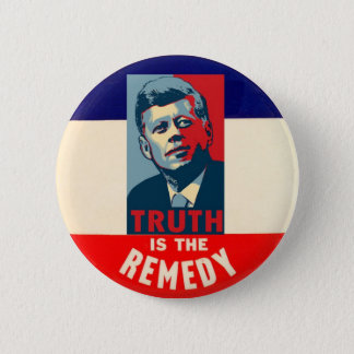 Chapa Redonda De 5 Cm JFK: La verdad es el remedio
