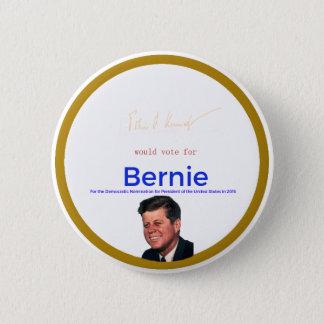 Chapa Redonda De 5 Cm JFK para las chorreadoras de Bernie