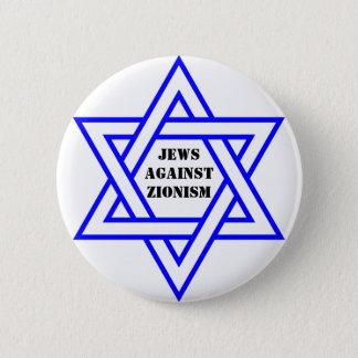 Chapa Redonda De 5 Cm Judíos contra sionismo