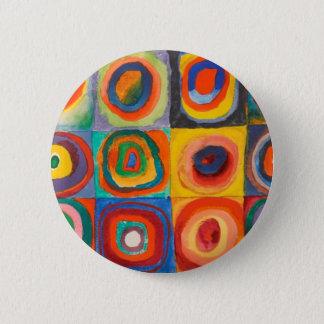 Chapa Redonda De 5 Cm Kandinsky ajusta círculos concéntricos