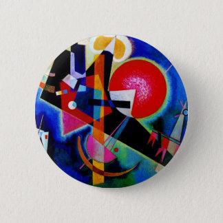 Chapa Redonda De 5 Cm Kandinsky en la pintura abstracta azul