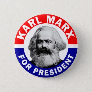 Chapa Redonda De 5 Cm Karl Marx para el presidente