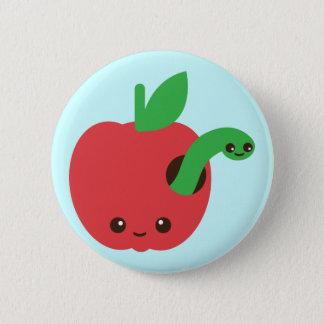 Chapa Redonda De 5 Cm Kawaii Apple putrefacto
