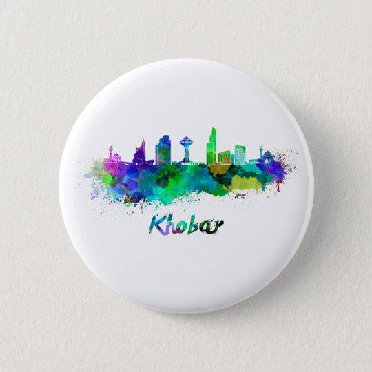 Chapa Redonda De 5 Cm Khobar skyline in watercolor