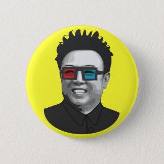 Chapa Redonda De 5 Cm Kim Jong-il - Corea del Norte