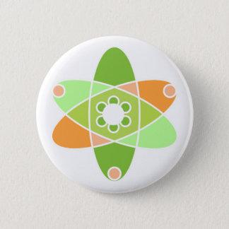 Chapa Redonda De 5 Cm Kiwi atómico